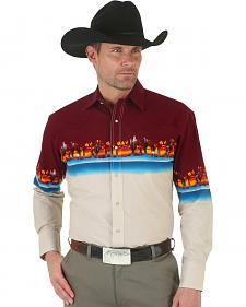 Wrangler Men's Checotah Reactive Border Western Shirt