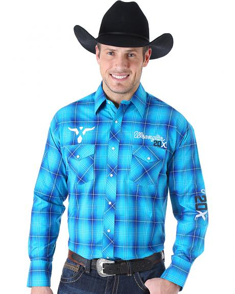 Wrangler Men's 20X Embroidered Logo Western Shirt
