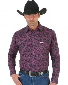 Wrangler Tough Enough to Wear Pink Men's Paisley Snap Shirt