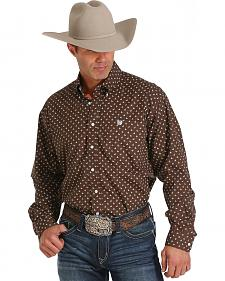 Cinch Men's Brown and White Scorpion Print Long Sleeve Western Shirt