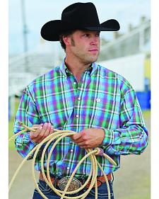 Cinch Men's Multi-Color Plaid Long Sleeve Western Shirt