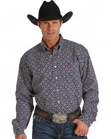 Cinch Men's Navy Print Western Shirt