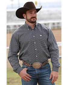 Cinch Men's Black and White Print Long Sleeve Western Shirt