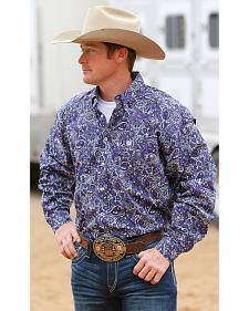Cinch Men's Purple Paisley Long Sleeve Western Shirt