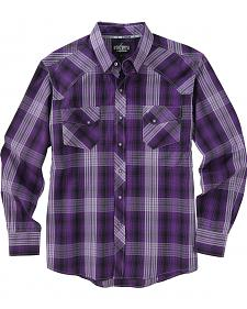 Garth Brooks Sevens by Cinch Purple Plaid Western Shirt