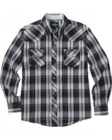 Garth Brooks Sevens by Cinch Purple and Grey Plaid Western Shirt