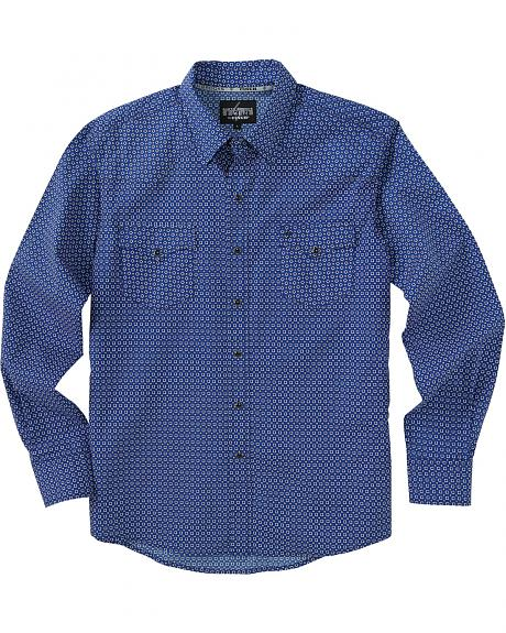 Garth Brooks Sevens by Cinch Blue Diamond Print Western Shirt