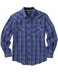 Garth Brooks Sevens by Cinch Blue and Grey Plaid Western Shirt