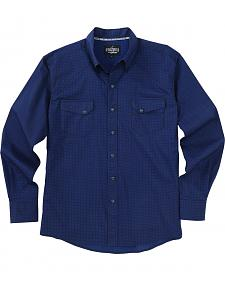 Garth Brooks Sevens by Cinch Blue Mini Print Western Shirt