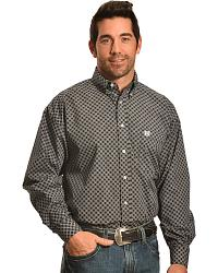 Panhandle Slim Men's Black Diamond Print Western Shirt at Sheplers