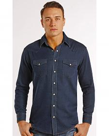 Rough Stock by Panhandle Slim Men's Navy Newbridge Vintage Western Shirt