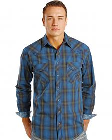 Rough Stock by Panhandle Slim Kentsdale Plaid Western Snap Shirt