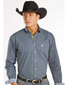 Rough Stock by Panhandle Slim Men's Hayden Vintage Print Western Shirt