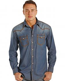 Rough Stock by Panhandle Slim Carderock Chambray Western Snap Shirt