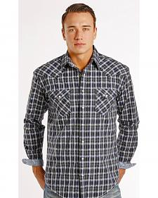 Rough Stock by Panhandle Slim Seven Locks Plaid Dobby Western Shirt