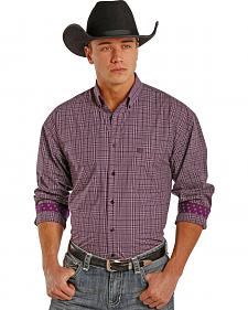 Panhandle Slim Men's Purple Check Western Shirt