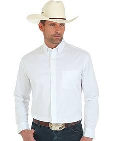 Wrangler 20X Advanced Comfort Men's White Button Shirt