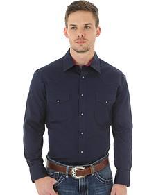 Wrangler 20X Advanced Comfort Men's Navy Button Shirt