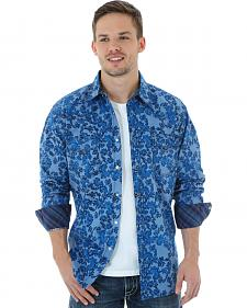 Wrangler 20X Men's Floral Chambray Shirt