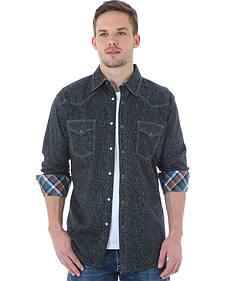 Wrangler 20X Men's Black Paisley Shirt