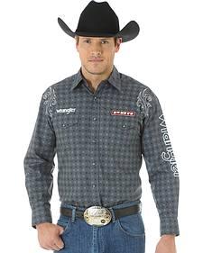 Wrangler Men's PBR Western Logo Shirt