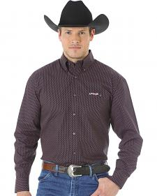 Wrangler Tough Enough to Wear Pink Men's Polka Dot Shirt