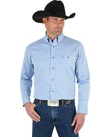Wrangler George Strait Men's Grey Plaid Shirt