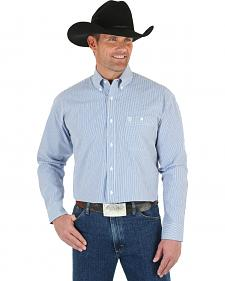 Wrangler George Strait Men's Blue & White Stripe Shirt
