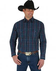 Wrangler George Strait Men's Troubadour Plaid Shirt
