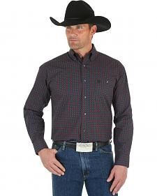 Wrangler George Strait Men's Black & Red Dot Shirt