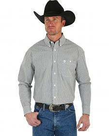 Wrangler George Strait Men's Black & White Stripe Shirt