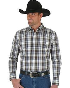 Wrangler Men's Wrinkle Resist Plaid Shirt