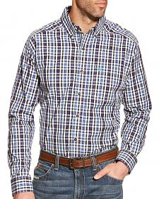 Ariat Men's Blue Plaid Pro Series Jepson Performance Shirt