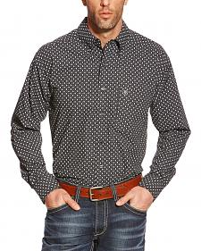 Ariat Men's Black Tyler Print Poplin Western Shirt