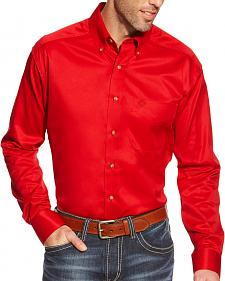 Ariat Men's Red Twill Western Shirt