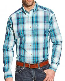 Ariat Men's Blue Plaid Watson Pro Series Shirt