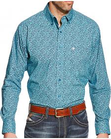Ariat Men's Blue Print Walker Long Sleeve Shirt