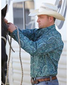 Cinch Men's Forest Green Paisley Western Shirt