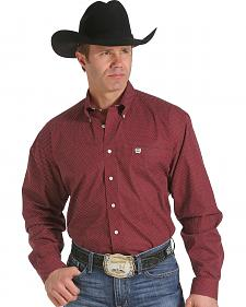 Cinch Men's Red Print Western Shirt