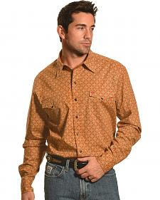 Garth Brooks Sevens by Cinch Beige Print Western Snap Shirt