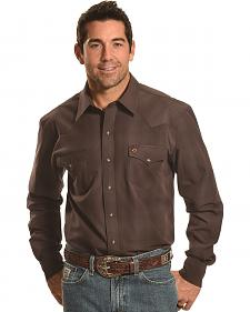 Garth Brooks Sevens by Cinch Men's Muted Brown Plaid Western Shirt