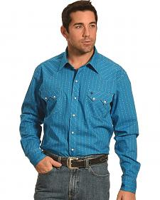Garth Brooks Sevens by Cinch Blue Stripe Western Shirt