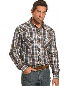 Garth Brooks Sevens by Cinch Men's Brown Plaid Western Shirt