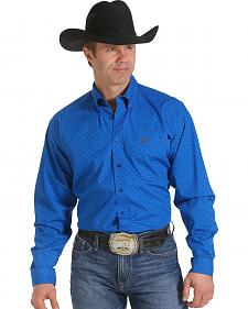 Cinch Men's Blue Armadillo Print Western Shirt