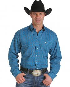 Cinch Men's Blue GeoPrint Western Shirt