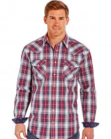 Rough Stock by Panhandle Slim Red Plaid Western Snap Shirt