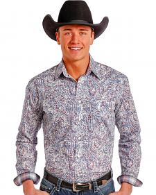Rough Stock by Panhandle Slim Multicolor Paisley Western Snap Shirt