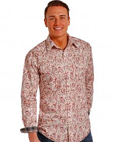 Rough Stock by Panhandle Slim Red Paisley Western Snap Shirt