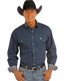 Panhandle Slim Men's Navy Print Snap Western Shirt