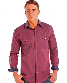 Rough Stock by Panhandle Slim Iridescent Red Snap Western Shirt